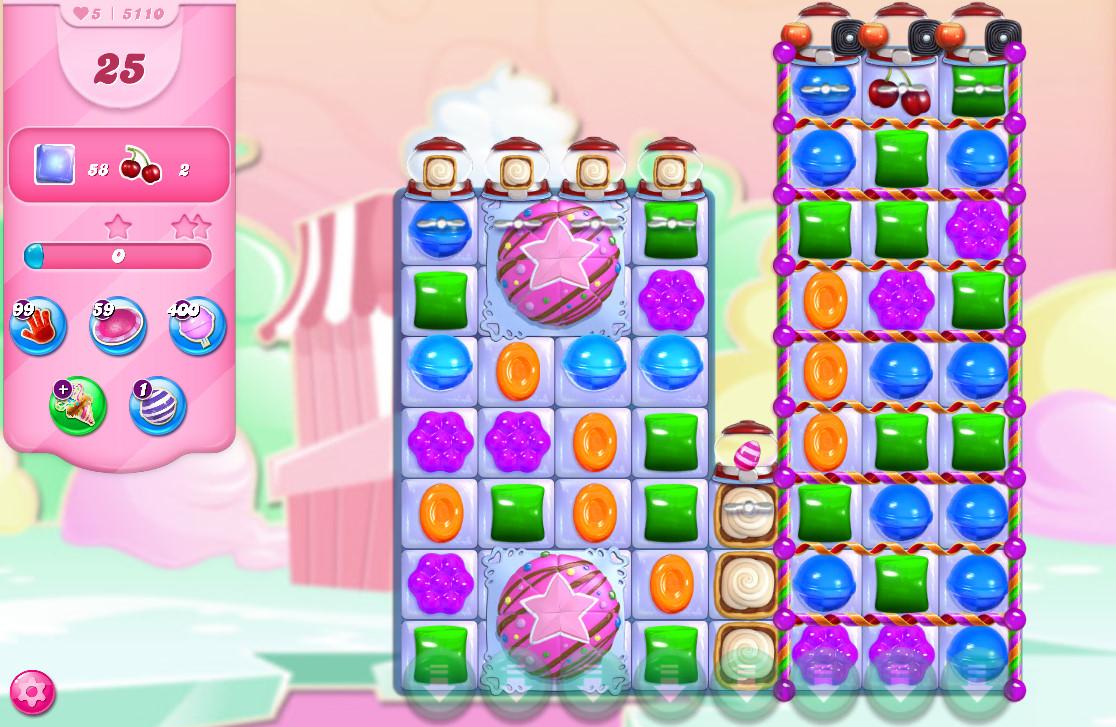 Candy Crush Saga level 5110