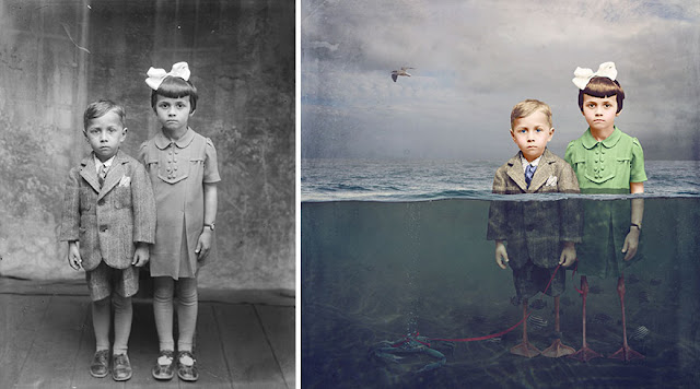 Historic Glass-Plate Photos From Romania Restored And Turned Into Colorful Art (19 Pics)