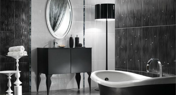 luxury black and white bathroom ideas, designs, furniture 2015
