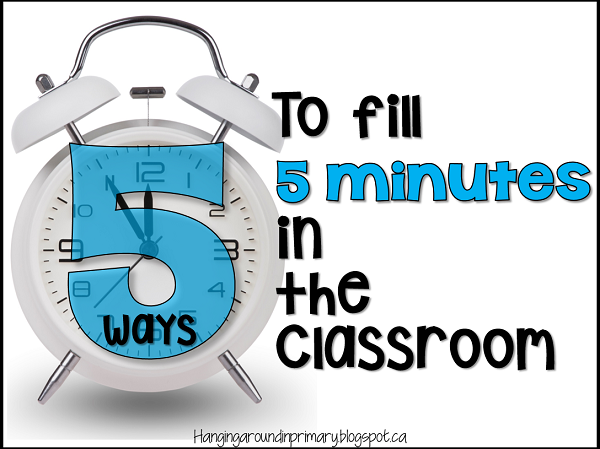 5 ways to effectively use those short amounts of time that we have each day in our classroom.  Teach Math and Literacy skills and make that time meaningful.