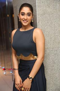 Actress Regina Candra Stills in Beautiful Blue Long Dress at Nagaram Success Meet  0111.JPG