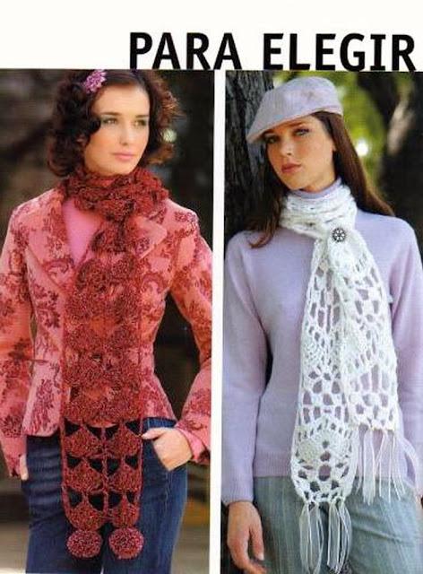 2 Bufandas para elegir de Crochet