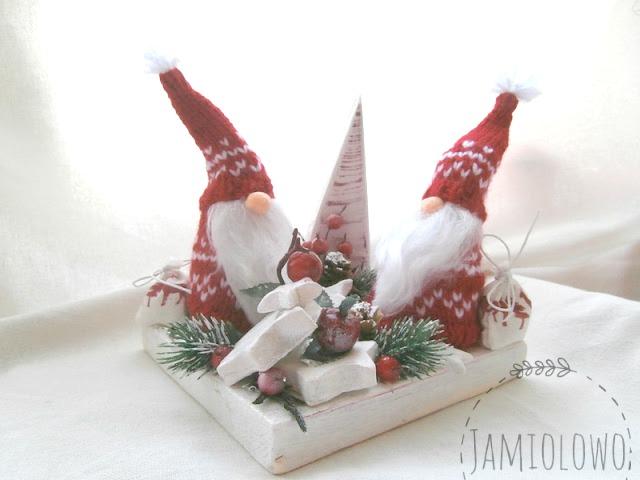bożonarodzeniowy stroik dla Justyny