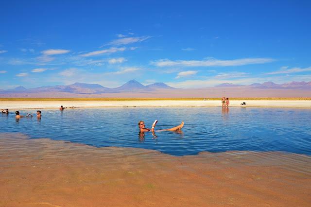 Vem flutuar você também na Laguna Cejar