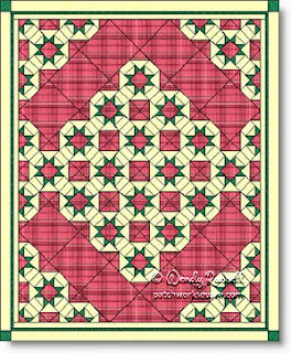 """Princess Charlotte"" quilt image © W. Russell, patchworksquare.com"