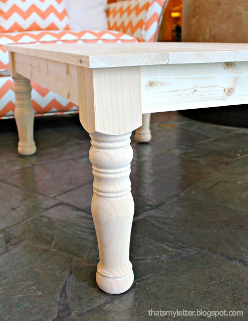 The Legs Are Prefabricated Unfinished Pine Colonial Coffee Table From Osborne Wood Has Tons Of Leg Options To Choose As Well Many