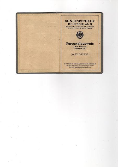 Excalibur: Personalausweis - alt.., hier stand noch: Der Inhaber ...