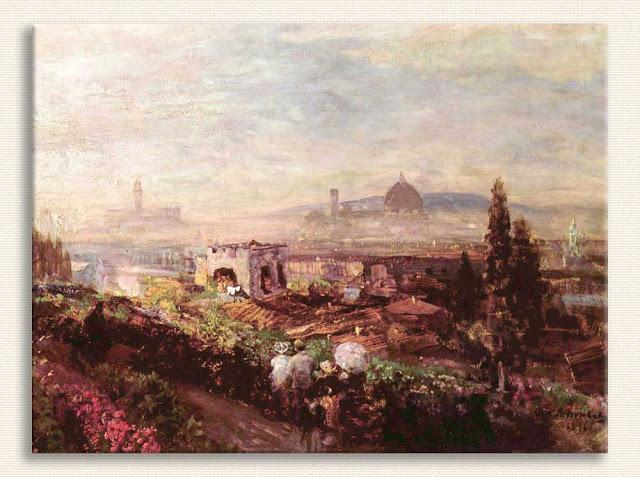 Oswald Achenbach, Floransa Manzarası