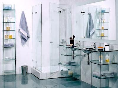 decoracion con cristal para baños