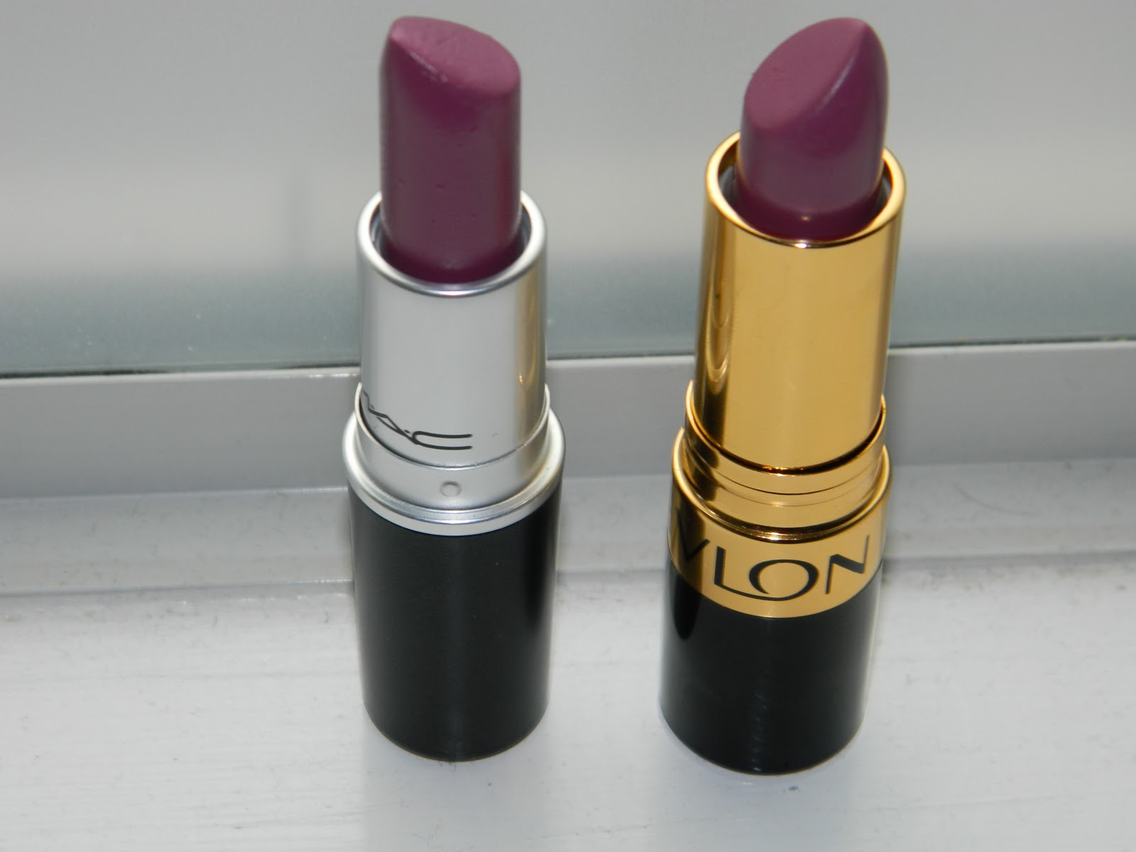 Blushing For Beauty: MAC Up The Amp Vs. Revlon Berry Haute