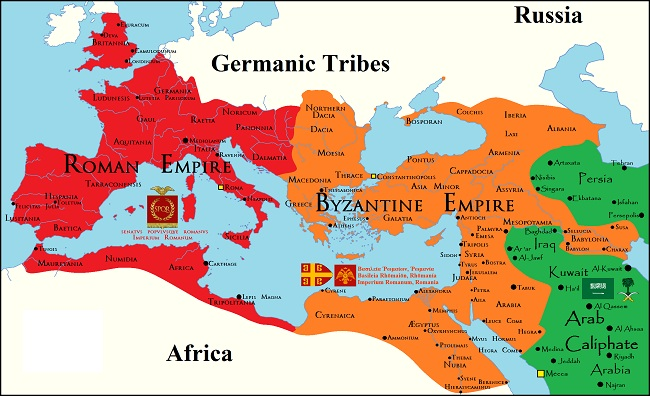 West Roman Empire vs East Roman Empire