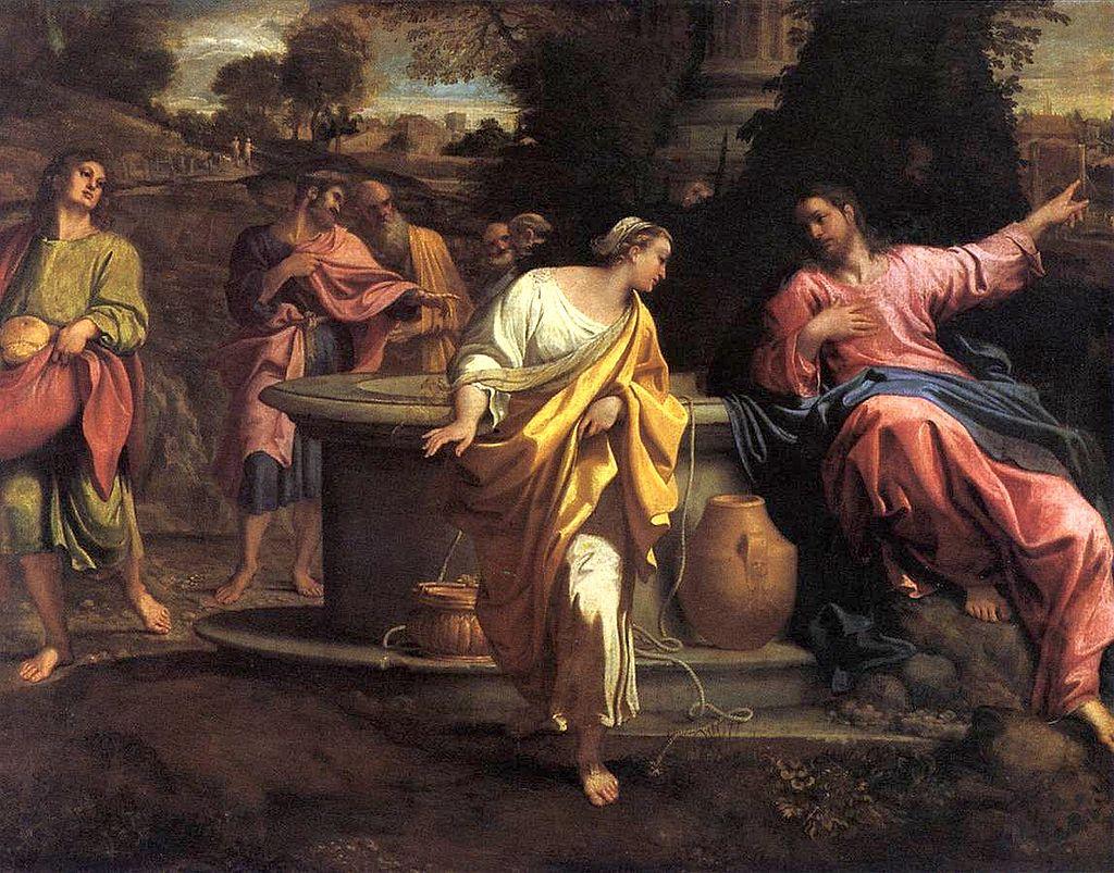 Jesus e a Mulher Samaritana - Pinturas com temas tirado da bíblia