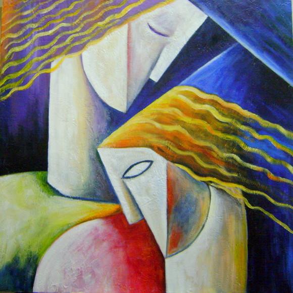 Namorados - Pinturas de Ismael Nery ~ Pinturas com o tema: Namorados