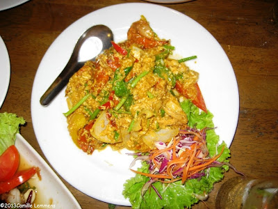 Curry powder with soft shell crab