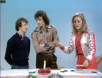 Douglas Rae, Mick Robertson and Jenny Hanley in Magpie (Christmas Eve 1976).