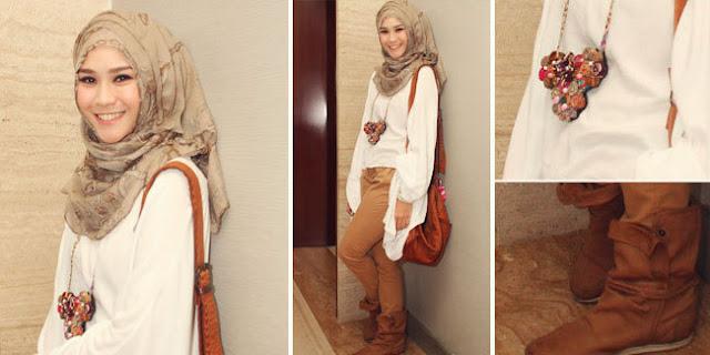 Tampil Fashionable Sederhana Dengan Jilbab