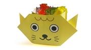 Gấp, xếp Hộp giấy hình con mèo
