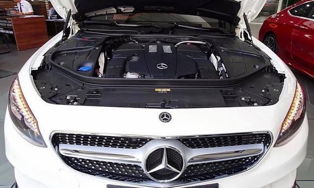 Động cơ Mercedes S400 4MATIC Coupe 2017 vận hành mạnh mẽ và vượt trội