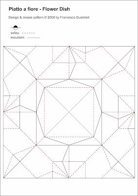 Origami CP Piatto a fiore - Flower Dish by Francesco Guarnieri