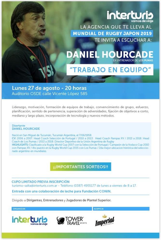 Daniel Hourcade brindará una charla en Salta - Interturis