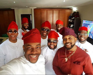Banky W and Adesua wedding introduction photos