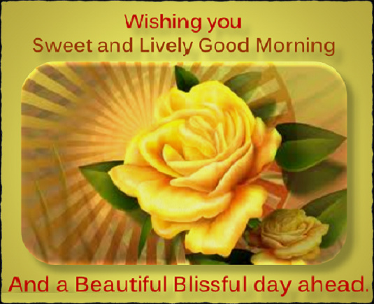 Blissful Good Morning Quotes: Wonderful Yellow Roses Wishes For Good Morning