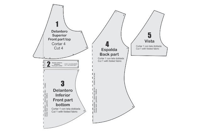 Molde de costura gratis para blusa sin mangas moda de verano