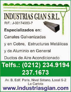 INDUSTRIAS GIAN S.R.L. en Paginas Amarillas tu guia Comercial