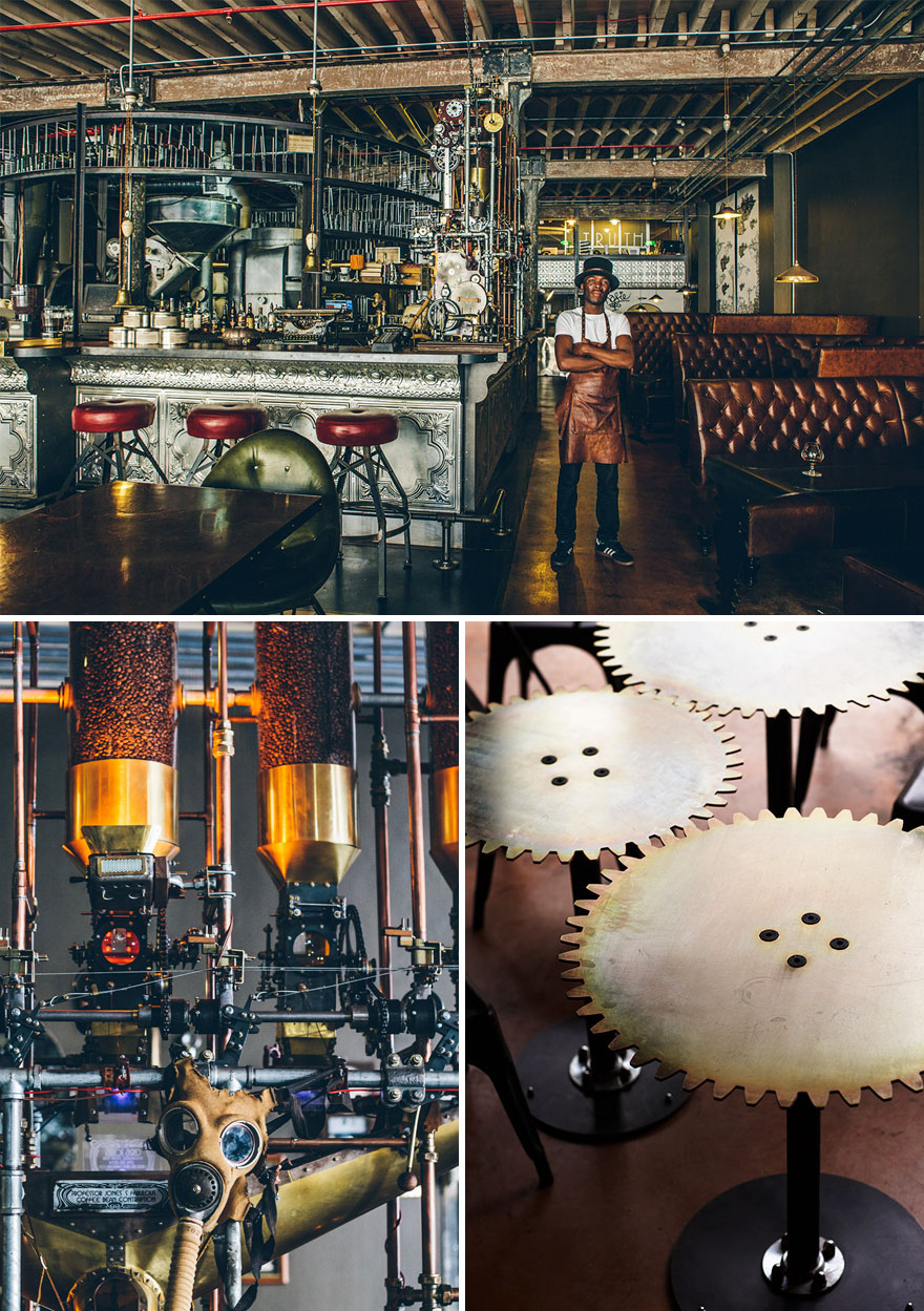 35 Of The World's Most Amazing Restaurants To Eat In Before You Die - Impressive Steampunk Design, Truth Coffee, Cape Town, South Africa