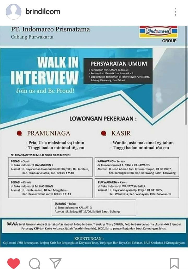 Info Lowongan Kerja Pt Indomarco Prismatama Blog Informasi