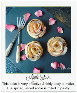 With thinly sliced apple and a dash of cinnamon rolled in a scrumptious cream cheese pastry, these apple roses are not only incredibly effective but also really delicious, making them perfect to share with your sweetheart this Valentine's Day.  Though they'd be fabulous for any occasion!