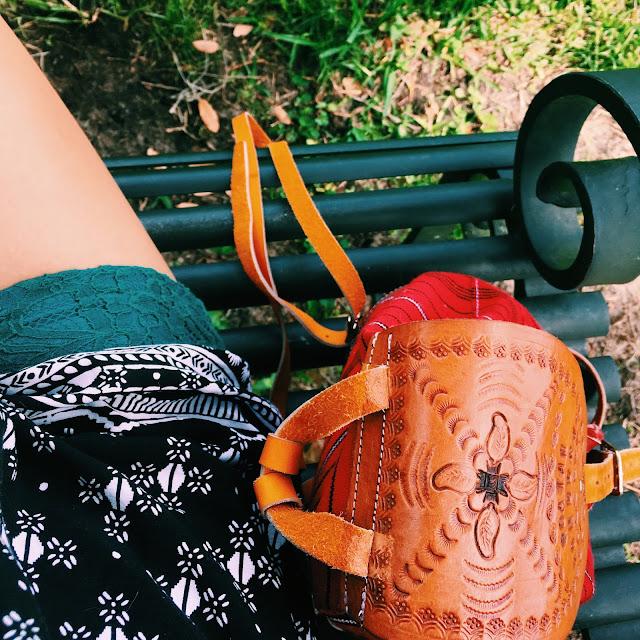 bok tower gardens, Lauren Banawa, fashion blog, ootd, leather backpack