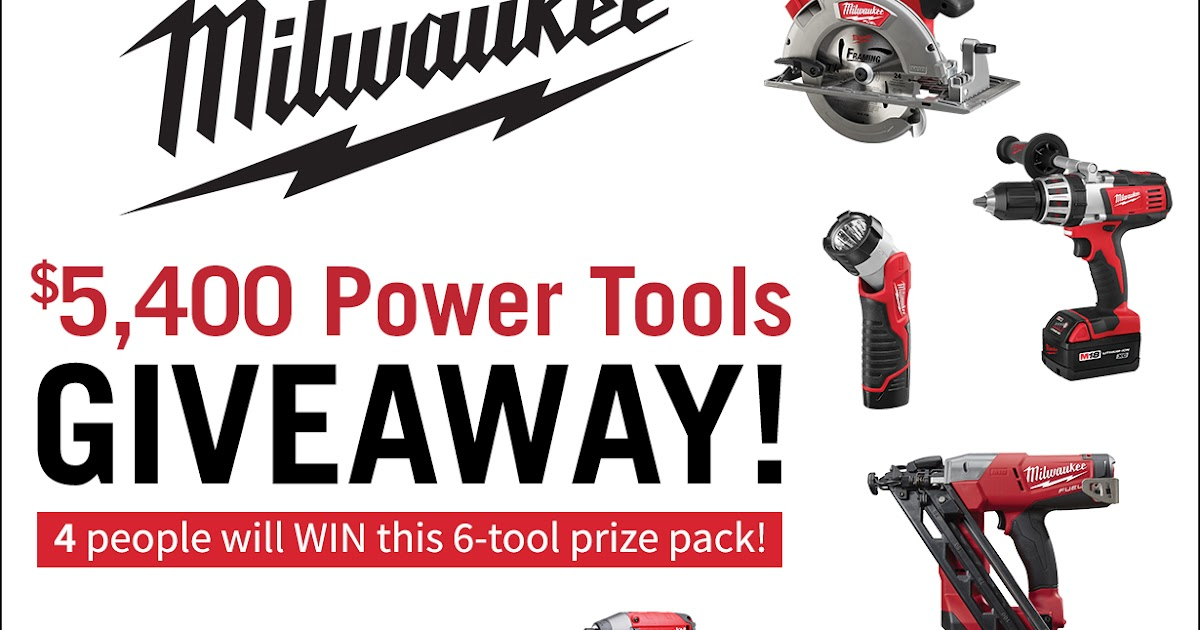 Win Drill Giveaway Tools