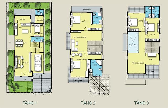 Mặt bằng thiết kế căn biệt thự đơn lập Gamuda Gardens - Mansions