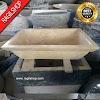 Wastafel marmer tulungagung kotak klasik asli batu alam