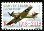 © Canveypost.org - RAF Centenary Hurricane Overprint