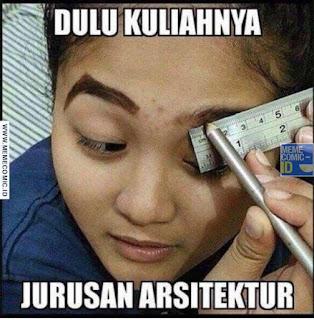 Meme Comic Indonesia terbaru Lucu Cewek dandan