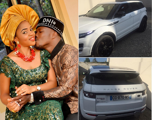 Striker, Dickson Nwakaeme Showers Wife With Love Packaged In A Brand New Range Rover (See Photos)