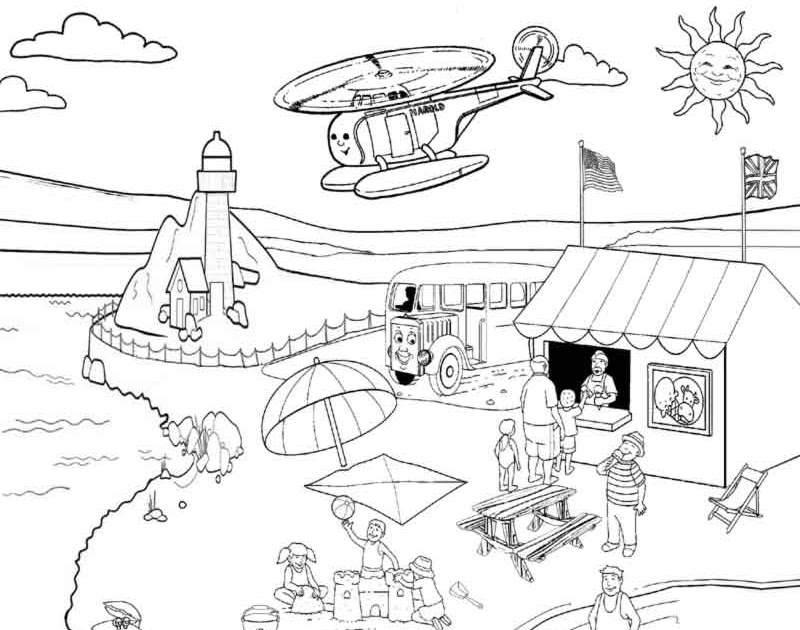 Stanley the tram engine coloring pages ~ Thomas coloring book pages for kids printable picture ...
