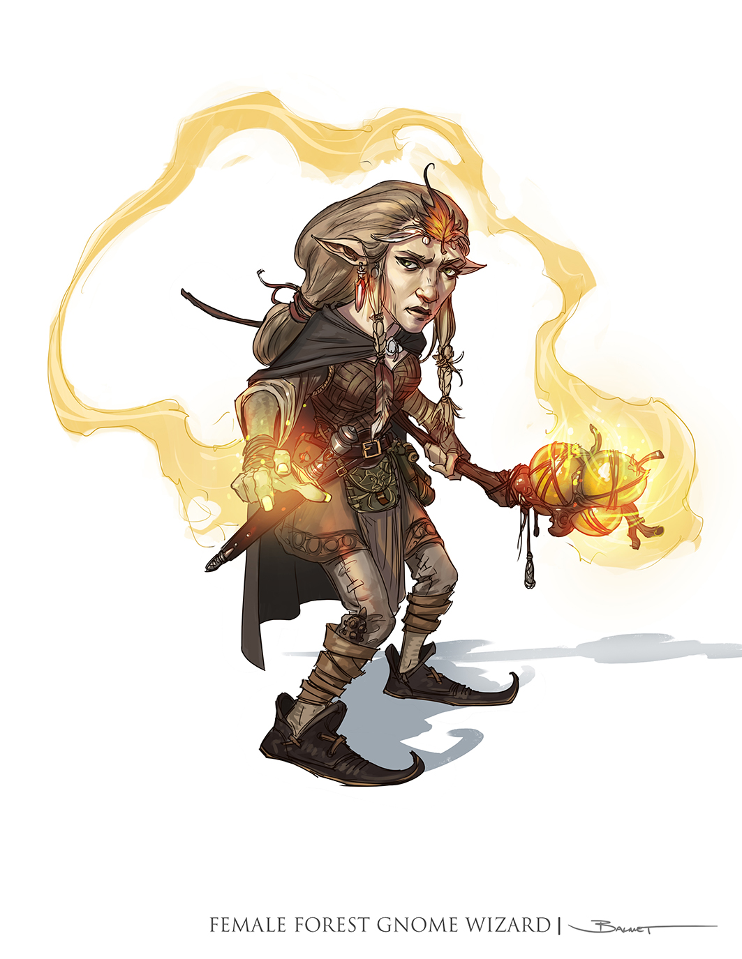 Female Gnome: John-Paul Balmet: Dungeons And Dragons 5th Edition Player