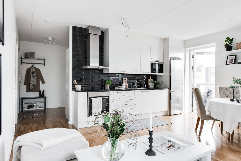 Mały Salon Z Aneksem Kuchennym Codziennie Szczypta Designu