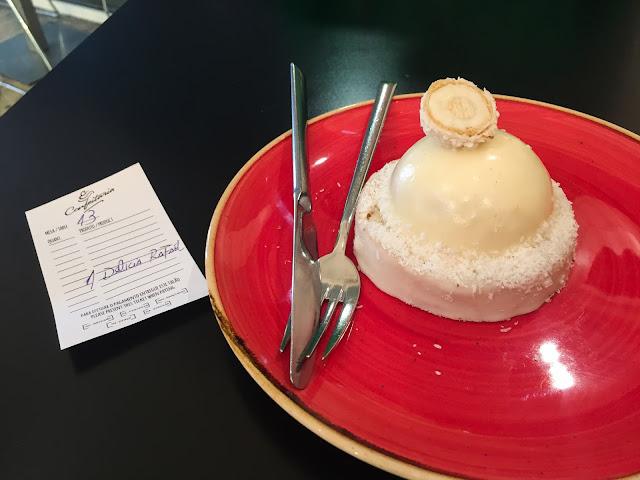Coconut cake at A Confeitaria; Funchal, Madeira