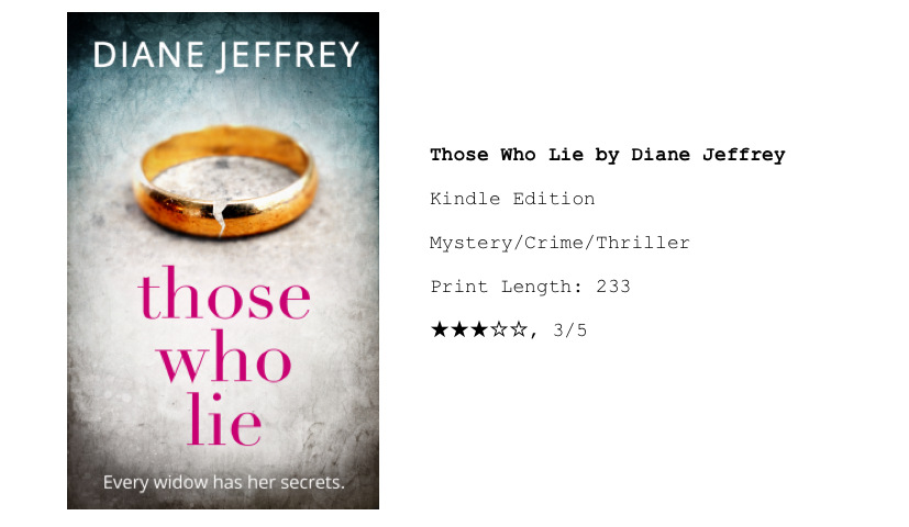 Book Tour: Those Who Lie