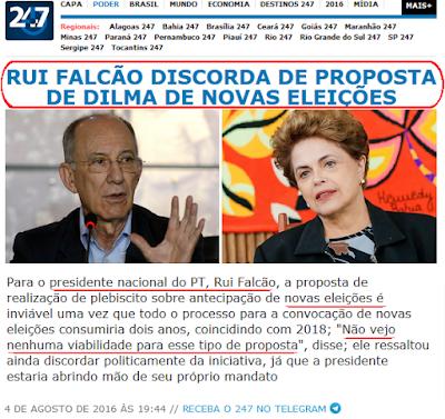 Fora Temer é manipulação, petista Rui Falcão diz que nova eleição é inviável