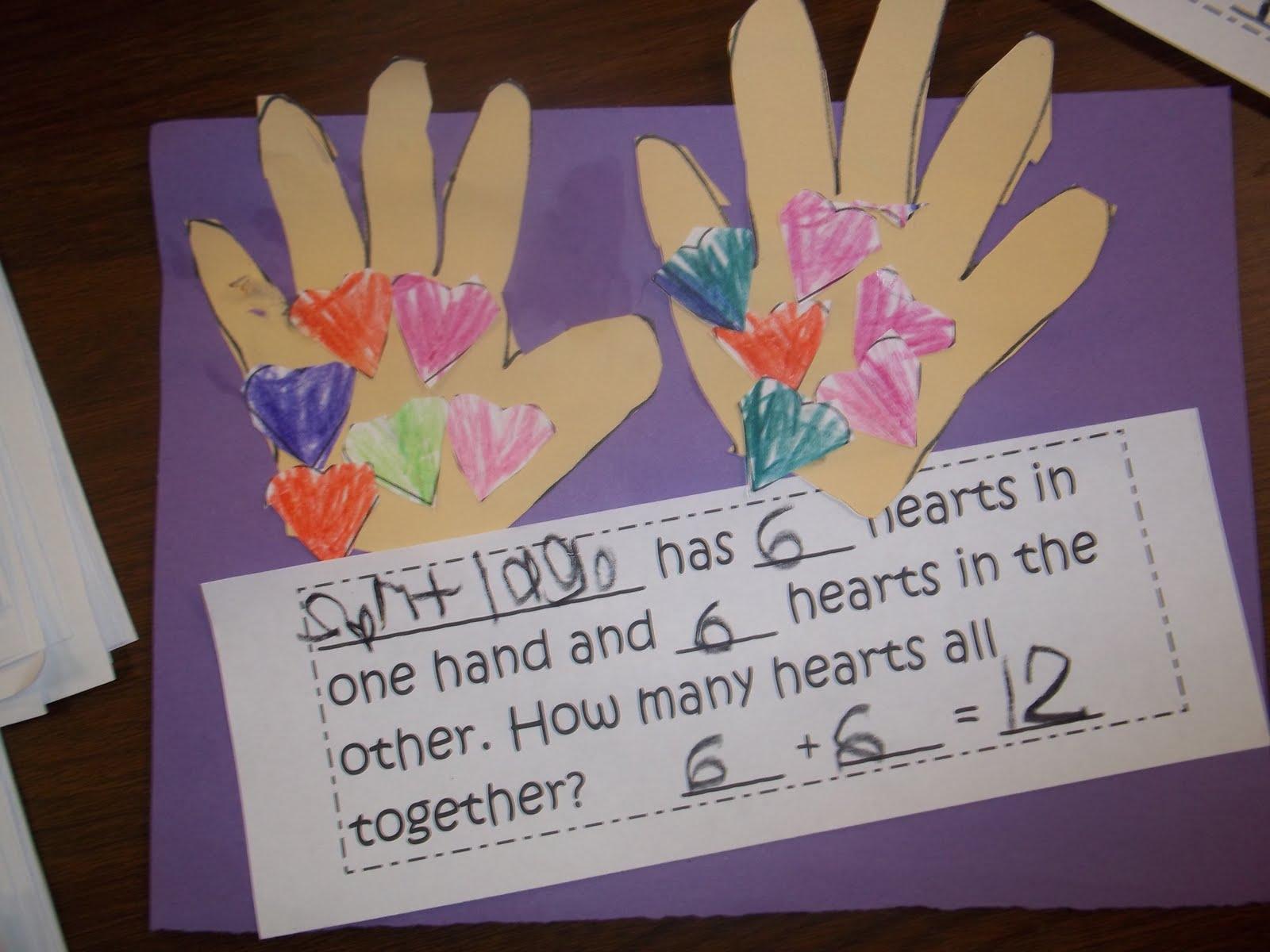 Kinder Garden: Mrs. Wood's Kindergarten Class: Valentine Math