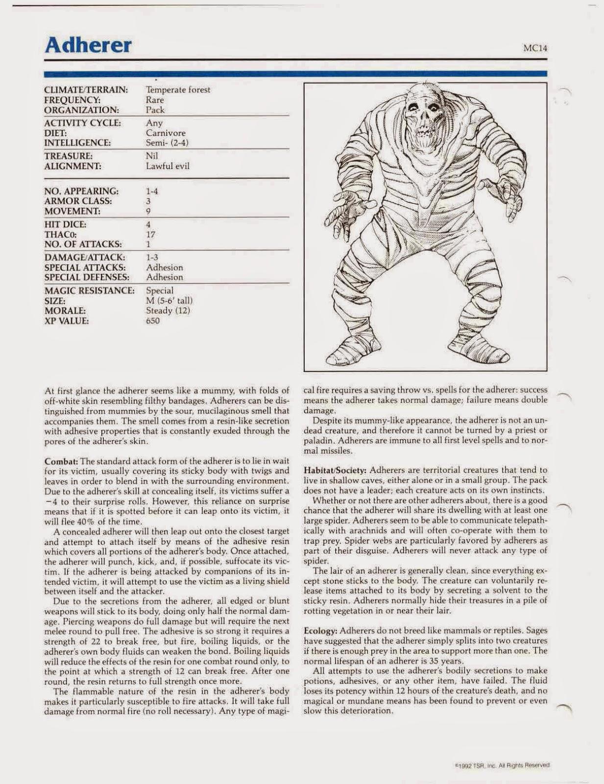 Ultanya: 5E Monster Conversion: Adherer