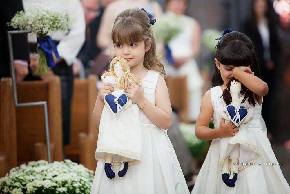 cerimônia - entrada daminhas - daminhas - crianças - bonecas