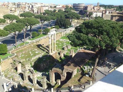 Foro Romano visto de cima do Altare della Patria - Roma - Itália