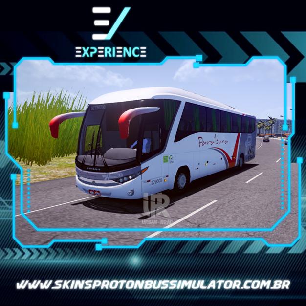 Skin Proton Bus Simulator Road - G7 1200 MB O-500 RS Paraibuna Transportes