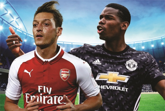 Arsenal and Manchester United battle it out at the Emirates Stadium on Saturday